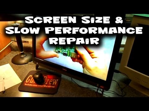 Giant - Dell Inspiron One - Screen Size & Slow Performance Repair