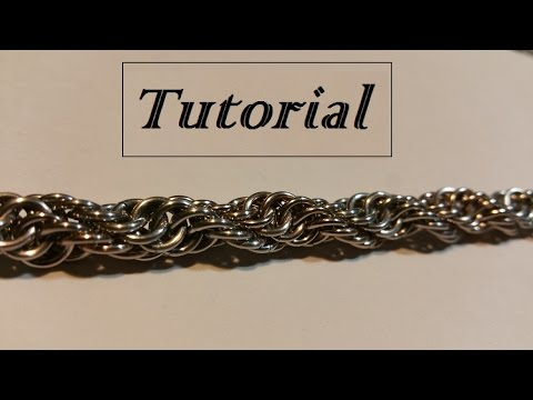 Double spiral chainmaille