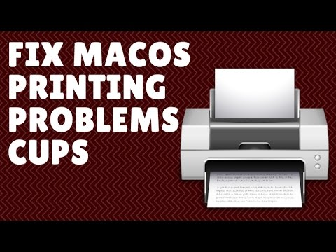 Fix Printing Problems macOS Sierra