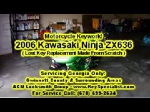 2006 Kawasaki Ninja ZX636 - Motorcycle Lost Key replacement Made! Locksmith in Duluth, GA