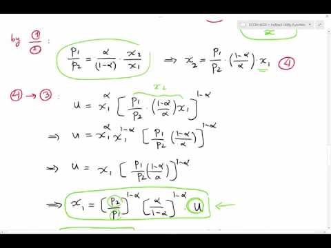 Lecture 3 - Deriving Hicksian (Compensated)  Demand Function