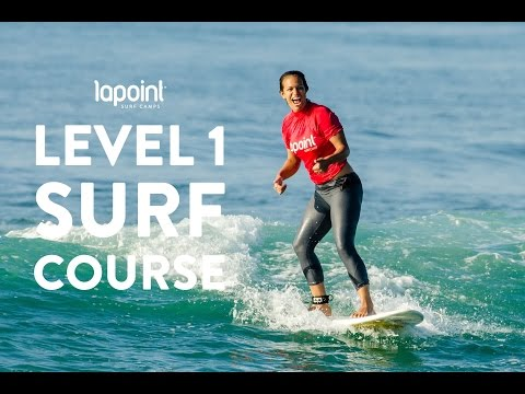 Learn how to surf with Lapoint - beginner surf course level 1 - surfing whitewater