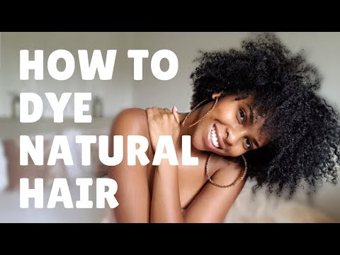 How to dye natural hair black