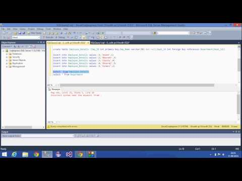 4.SQL Server Tutorial-Hindi(Primary key,Foreign key,Not null)