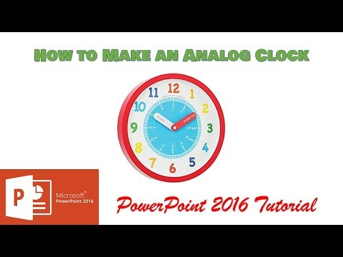 How to Make A Live Analog Clock | PowerPoint 2016 Tutorial | The Teacher