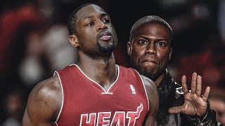 """Dwyane Wade SILENCES Kevin Hart, Then Goes Home to Wife For """"Adult Stuff""""   2018 NBA Playoffs"""