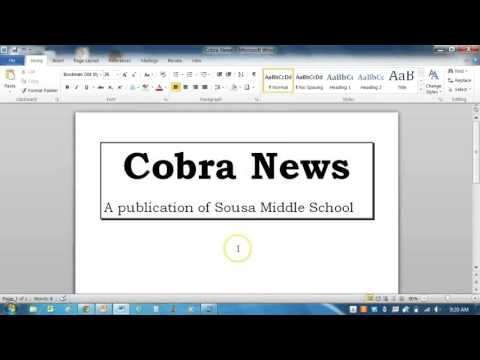 MS Word Newsletter