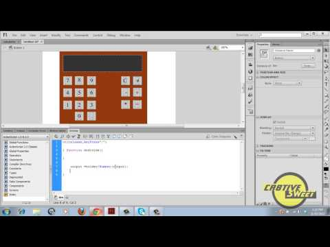 How to create a simple Calculator in Flash CS6 in Actionscript 2.0