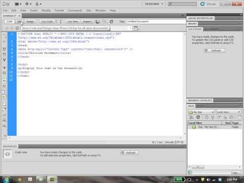 Dreamweaver Tutorial 2: Creating HTML and CSS Files