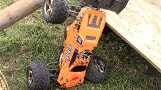 Jumping The Vkar Bison Rc Truggy - I Suck At Driving!!