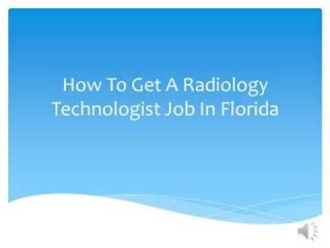 How To Get A Radiology Technologist Job In Florida
