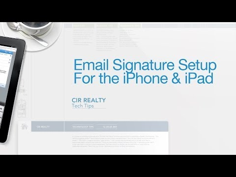 Email Signature Setup on the iPhone & iPad - Tech Tip