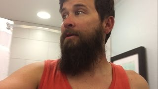 Guy shaves his beard after 1 year!