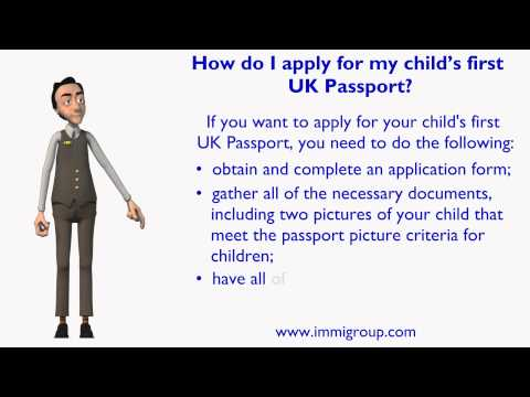 How do I apply for my child's first UK Passport?