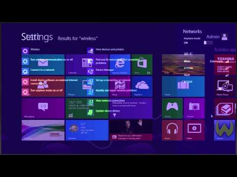 Toshiba How-To: Connecting to a Wi-Fi network using Windows 8