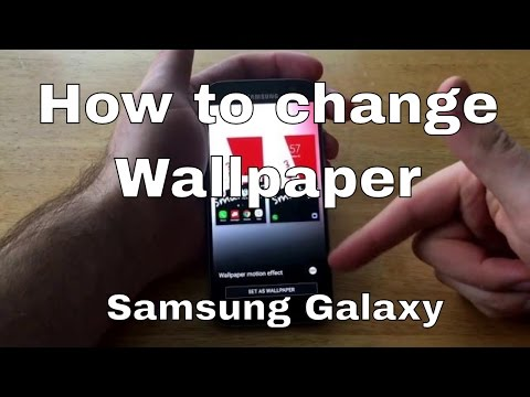 Samsung Galaxy S7 - How to change wallpaper