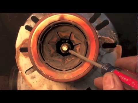 Oil burner gun depth adjustment