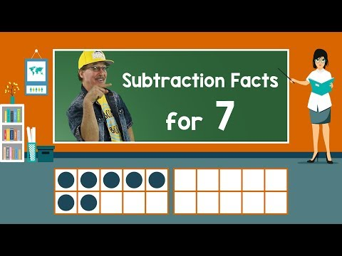Practice Our Subtraction Facts for 7 | Subtraction Song | Math Song for Kids | Jack Hartmann