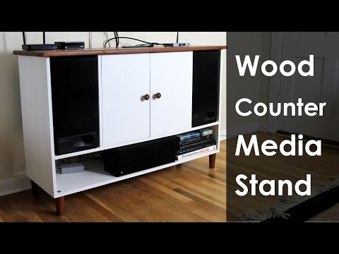 Making a Hardwood Counter-Top for a Media Stand