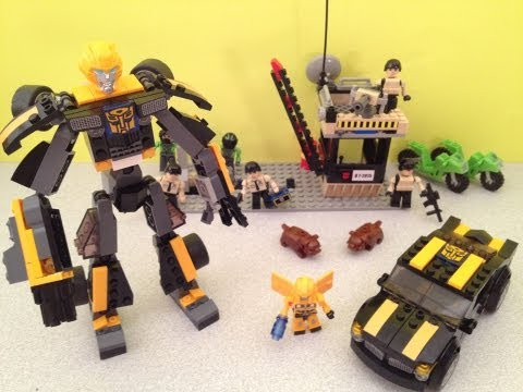 KRE-O STEALTH BUMBLEBEE - TRANSFORMERS BUILD SET TOY REVIEW