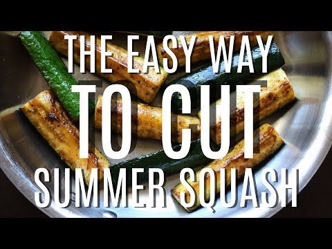 Easiest Way to Cut Zucchini + Easiest Way to Cut Yellow Squash