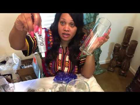 DIY Napkin Rings, Chair Sash Holder, Vases using Bling Wrap