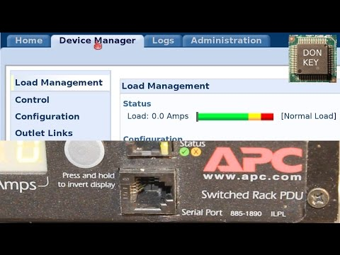 Setting up APC7920 PDU power distribution unit: IP address, web management HTTP, HTTPS, SSL, SSH