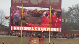 TigerNet.com - Clemson National title celebration - Clemson runs down the hill
