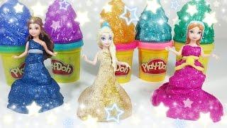 Prettiest Play Doh Princess Sparkle Ball Gown III 디즈니 프린세스 플레이도우 드레스 пластилін Дисней Принцесса