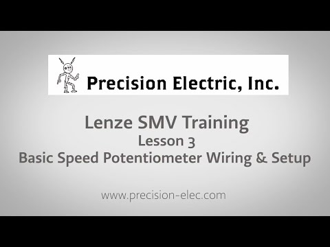 Lenze SMV Training Lesson 3: Basic Speed Potentiometer Wiring & Setup - Variable Frequency Drives