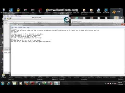 how to speed up ultimate zip cracker password cracking process with cheat engine