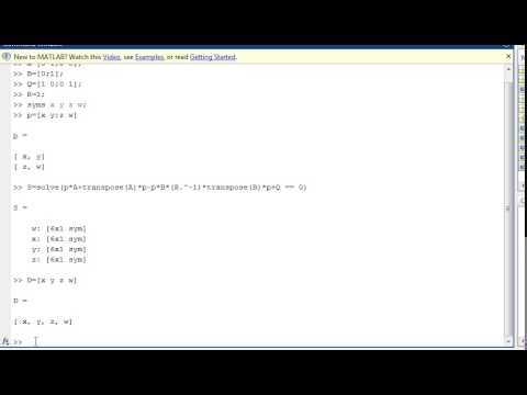 How to solve matrix equation by matlab