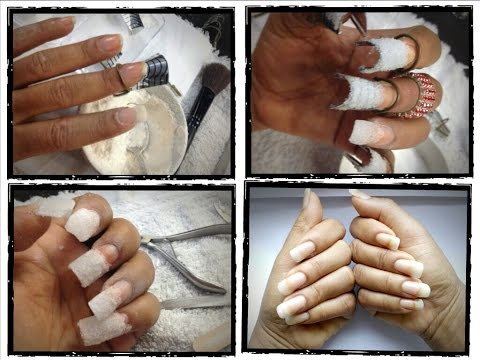 How to make your nails LONGER naturaly with flour