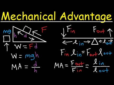 Mechanical Advantage, Simple Machines - Lever & Ramp - Work, Force, Power, & Energy Physics Problems