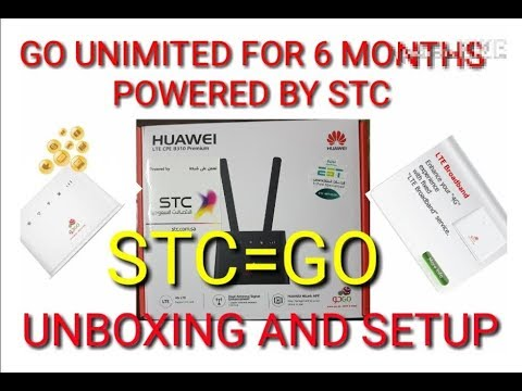 GO 4G INTERNET ROUTER UNBOXING  / UNLIMITED INTERNET FOR 6 MONTHS POWERED BY STC