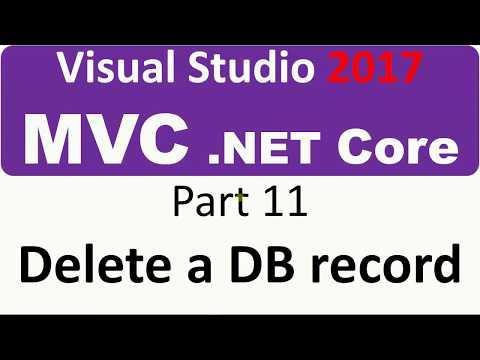 Visual Studio 2017 - MVC Core - Part 11 - delete a Database record