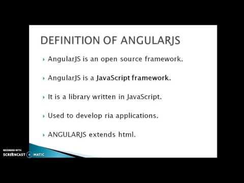 Angular Js Tutorial 1 : Introduction to Angular js(telugu)