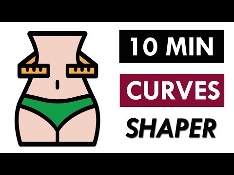 ❤Hourglass Figure Workout: 10 Minute Workout For Smaller Waist +  Bigger Glutes