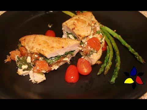 Feta Bruschetta Stuffed Chicken Breast | Keto Recipes | Keto Meal Prep