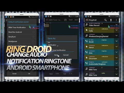 Change notification ringtone audio Android device