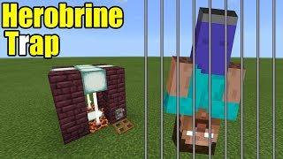 How to Make the HEROBRINE TRAP | Minecraft PE