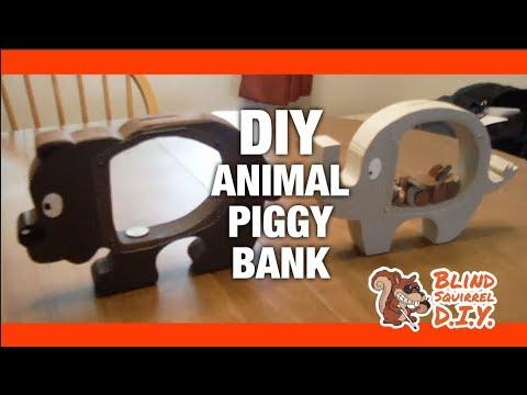 DIY Animal Piggy Bank