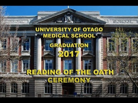 Otago Medical School Reading of the Oath Ceremony 2017