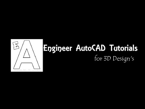 Engineer Auto CAD Tutorials : For Mechanical & Civil Engineers : New trailer