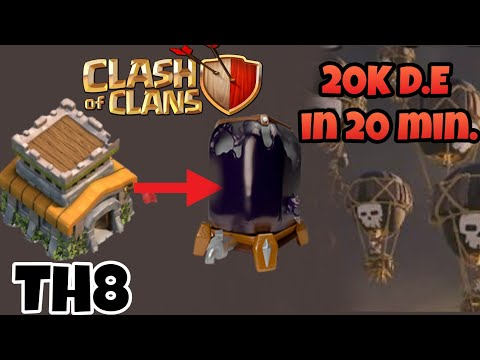 (Hindi)How to Get Dark Elixir fast in TH8 in Clash of Clans