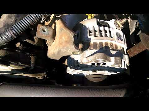 How to line up the alternator and serpentine belt on 2000 to 2006 Nissan Altima