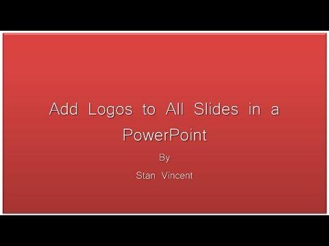 PowerPoint Presentation Adding Logos Editing Master Slide