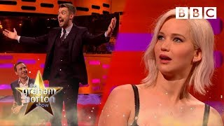 Jennifer Lawrence v Jack Whitehall - The Graham Norton Show - BBC