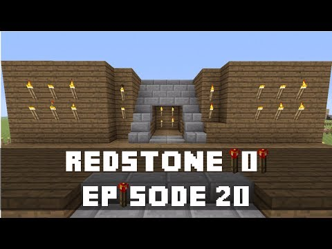 Minecraft Xbox 360 -  How to make a Hidden Staircase Entrance TU13 (Redstone Torch Key Activated)