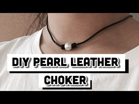 How to Double knot for pearl leather choker!